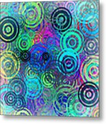 Abstract Colorful Rings Metal Print