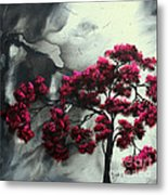 Abstract Contemporary Art Landscape Painting Modern Artwork Pink Passion By Madart Metal Print