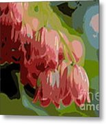 Abstract Coral Bells Metal Print