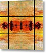 Abstract Cracker Tapestry Metal Print