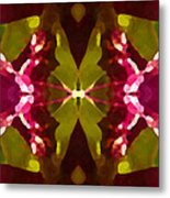 Abstract Crystal Butterfly Metal Print