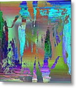 Abstract Cubed 75 Metal Print
