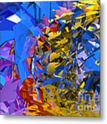Abstract Curvy 13 Metal Print