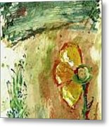 Abstract Daisy Metal Print by Cathy Peterson