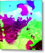 Abstract Desert Scene Metal Print