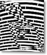 Abstract Distortion Keep Your Fingers Crossed Maze Metal Print