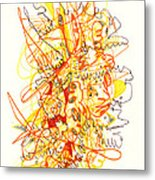 Abstract Drawing Fifty-three Metal Print