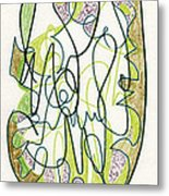 Abstract Drawing Forty-four Metal Print