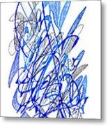 Abstract Drawing Seventy Metal Print