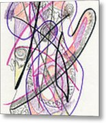 Abstract Drawing Twenty-six Metal Print