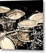 Abstract Drum Set Metal Print