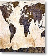 Abstract Earth Map Metal Print