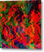 Abstract - Emotion - Rage Metal Print