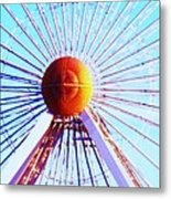 Abstract Ferris Wheel Metal Print