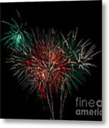 Abstract Fireworks Metal Print by Robert Bales