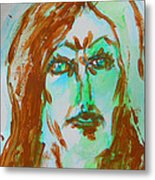 Abstract Flashes Of Joan Metal Print