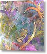 Abstract Floral Designe - Panel 1 Metal Print