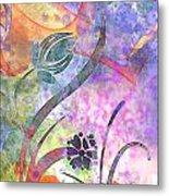 Abstract Floral Designe - Panel 2 Metal Print