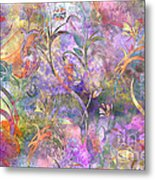 Abstract Floral Designe  Metal Print