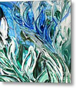 Abstract Floral Sky Reflection Metal Print