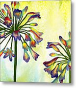 Abstract Flowers Metal Print by Diane Ferron