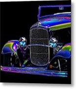 Abstract Ford - Classic Hotrods Metal Print
