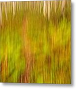 Abstract Forest Scenery Metal Print