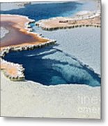 Abstract From The Land Of Geysers. Yellowstone Metal Print
