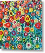 Abstract Garden Of Happiness Metal Print