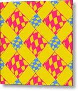 Abstract Geometric Colorful Seamless Metal Print