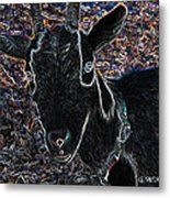 Abstract Goat Metal Print