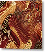 Abstract Gold 3 Metal Print