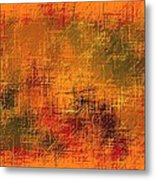 Abstract Golden Earth Tones Abstract Metal Print