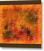 Abstract Golden Earthones With Quad Border Metal Print