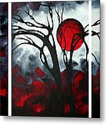 Abstract Gothic Art Original Landscape Painting Imagine By Madart Metal Print