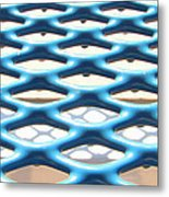 Abstract Grate Metal Print