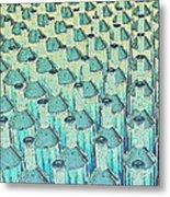 Abstract Green Glass Bottles Metal Print