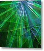 Abstract Green Lights Metal Print