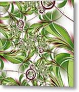 Abstract Green Plant Metal Print