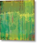Abstract Grunge Scratched Texture Metal Print