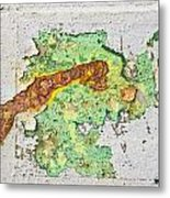 Abstract Grunge Metal Print