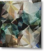 Abstract Grunge Triangles Metal Print
