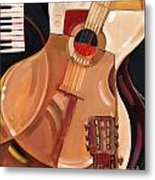 Abstract Guitar Metal Print