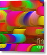 Abstract Hair Curlers Painting Metal Print