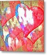 Abstract Hearts 16 Metal Print