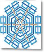 Abstract Hexagonal Shape Metal Print