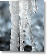 Abstract Icicles I Metal Print
