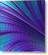 Abstract In Blue And Purple Metal Print