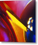 Abstract In Glass Metal Print