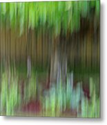 Abstract In Green Metal Print